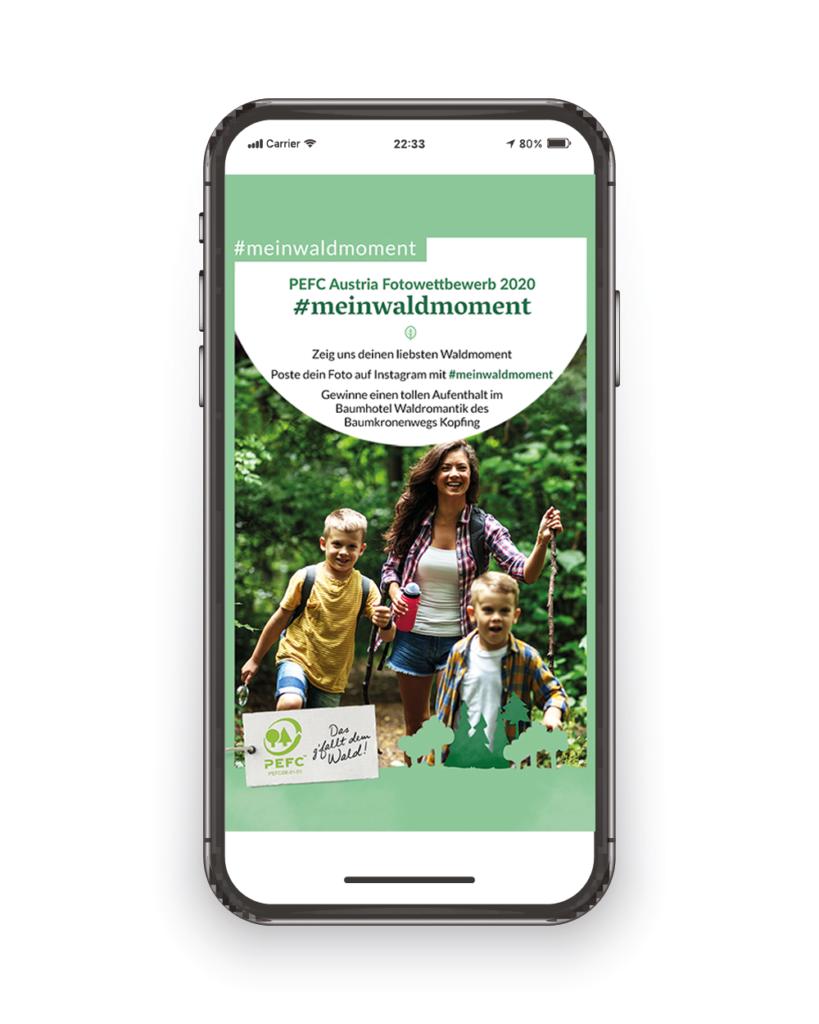 PEFC Fotowettbewerb Kampagnensujet (Grafik: PEFC Austria)
