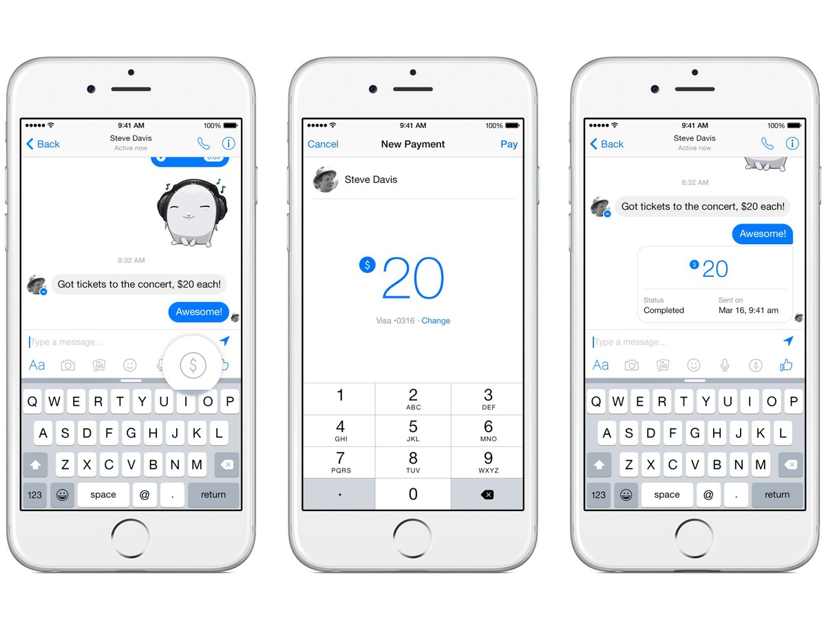 Facebook Payment Messenger