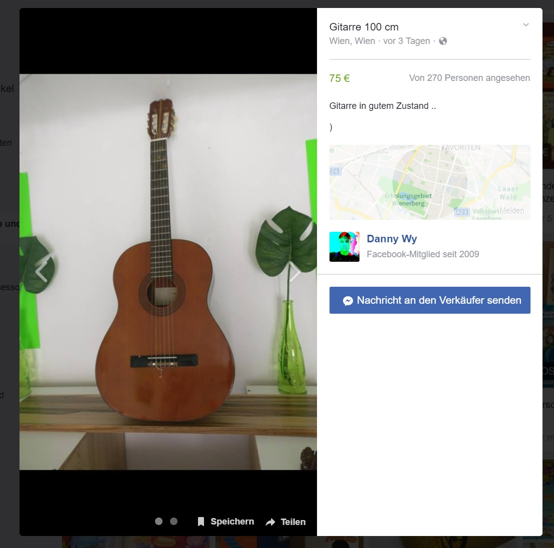 Facebook Marketplace Artikel Detail